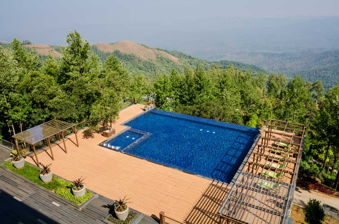 Trivik luxury resort in chikmagalur lbb bangalore Hotels in chikmagalur with swimming pool
